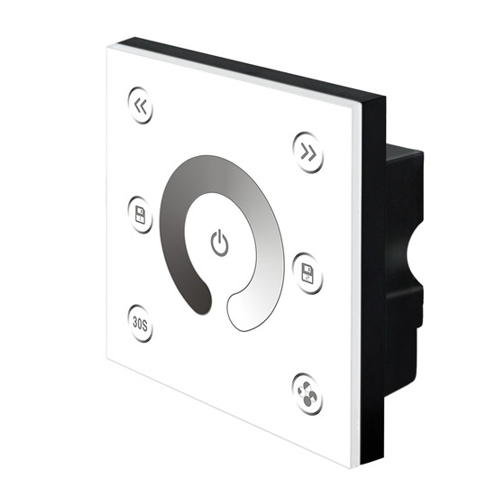 New Led Touch Panel Dimmer 12v Glass Touch Panel Led Strip Dimming 86 Panel Wall-mount Led Dimmer P1 Free Shipping(China (Mainland))