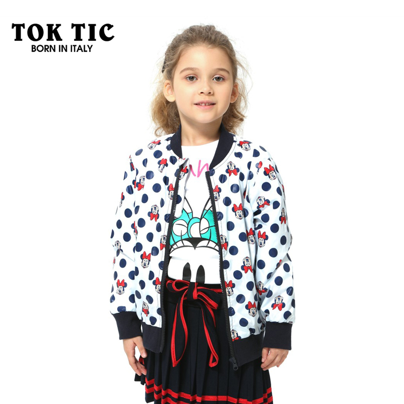 Toktic cartoon mouse scuba fabric children outerwear coat for Fabric for children s clothes