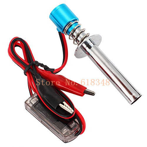 Electric candles Glow Plug Starter Igniter for 1:8 1:10 Nitro Buggy Truck RC Model Car Baja Boat Plane Helicopter 80100 HSP(China (Mainland))