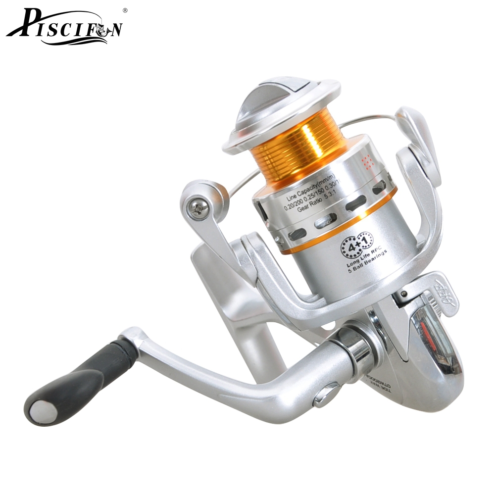 2000 3000 4+1BB 5.3:1 Spinning Reel Piscifun Coil Fishing Reel Carretilha Pesca Olta Fishing Reels Solda Molinete Pesca Feeder(China (Mainland))