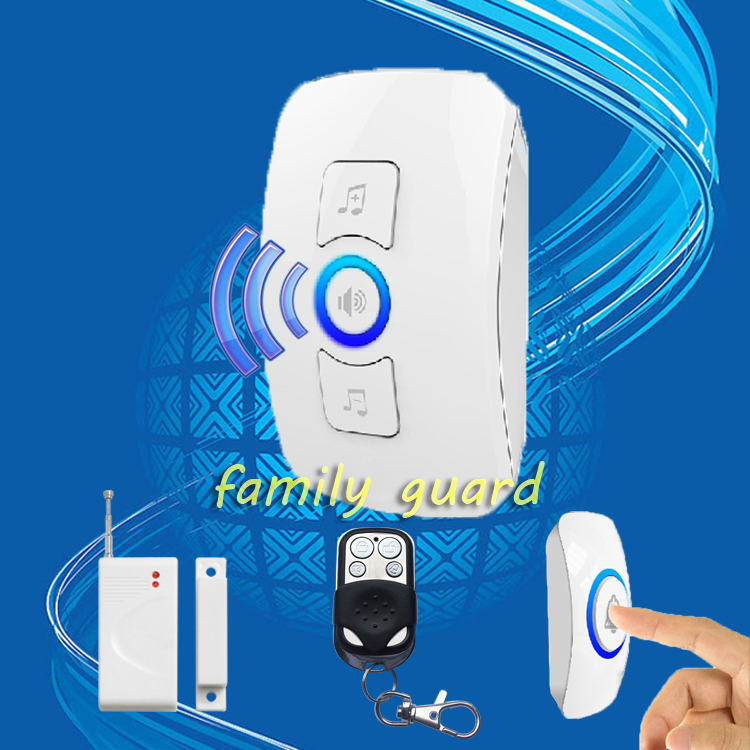 Free Shipping!Multifunctional wireless 433MHZ door sensor doorbell and Alarm system 32 Songs Remote Control Home Gate Security(China (Mainland))
