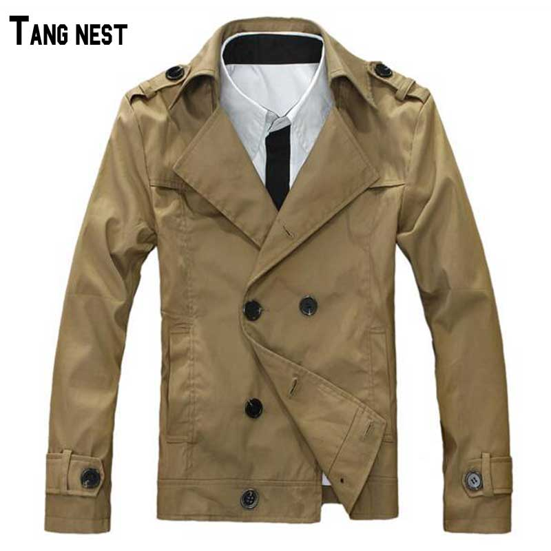 Mens Trench 2015 New Arrival Casual Solid Slim Fashion Double Breasted Mens Short Trench Turn-Down Collar Autumn Trench MWF177Одежда и ак�е��уары<br><br><br>Aliexpress
