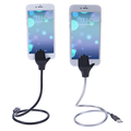 Flexible Stand up Micro USB 2 5A Charger Fast Charging Car Phone Holder Cable For iPhone