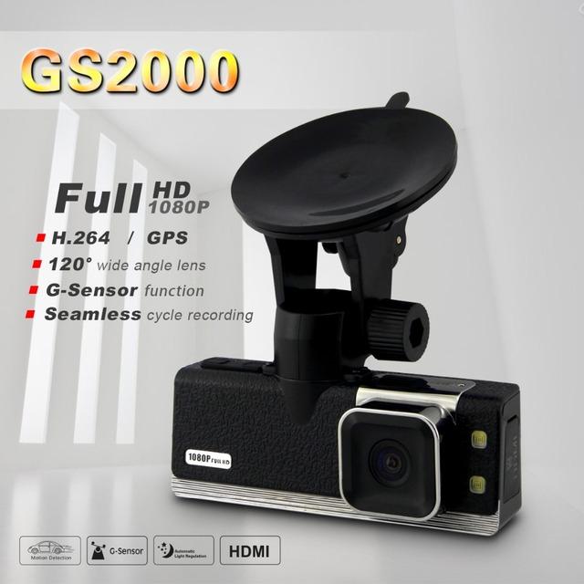 "Ambarella Car DVR Full HD 1080P 30FPS GS2000 1.5""LCD Car Camera Recorder with GPS logger G-sensor H.264 4 IR light"