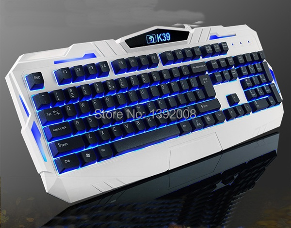New Alliance K39 Mechanical Feel Backlit PC USB Wired Keyboard Gaming Keyboard(China (Mainland))