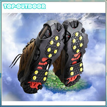 10 Studs Teeth Anti-Skid Skidproof Claws Ice Crampons Snow Ice Climbing Shoes Cover Shoe Spikes Grips Crampons Cleats Overshoes(China (Mainland))