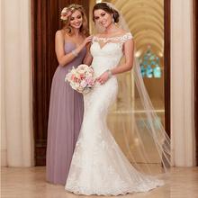 Buy 2017 Hot Lace Wedding Dress Appliques Mermaid Court Train Wedding Dresses Elegant Bride Dresses Wedding Gowns Vestido De Novia for $70.20 in AliExpress store