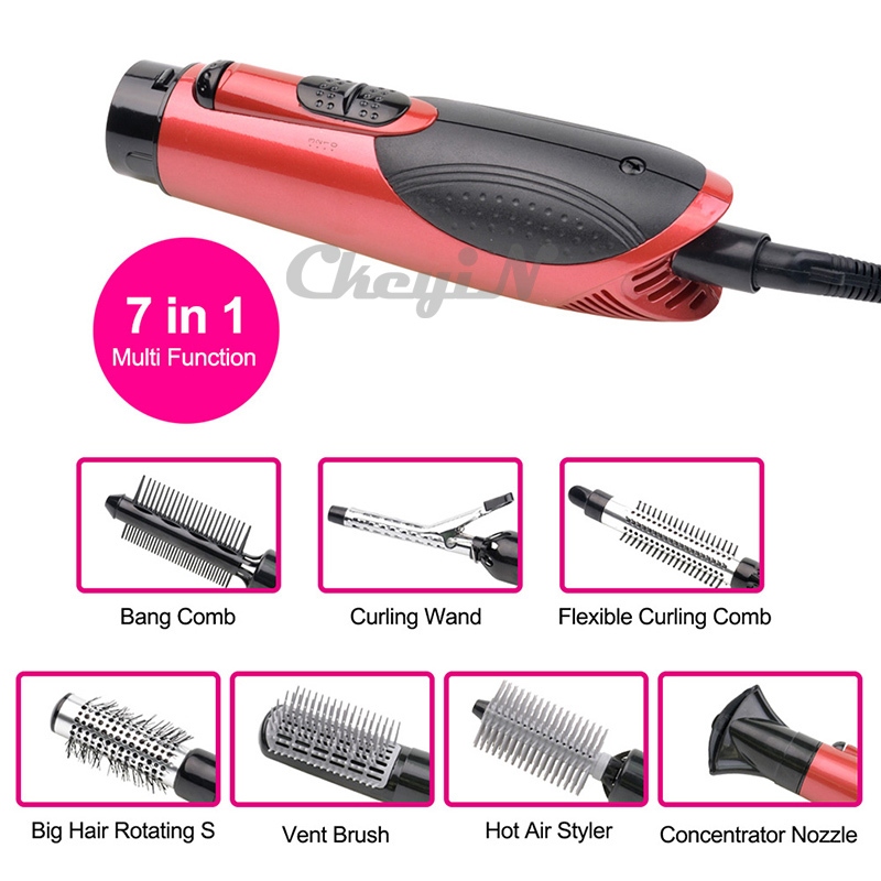 7 In1 Professional Hair Dryer Set Salon Hair Styling Tools