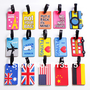promotion luggage tags PVC luggage protective covers tag travel suitcase label name tag id name card cover protect free shipping