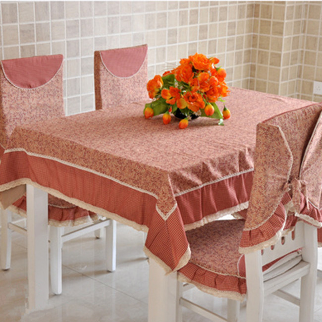 Brief vintage rustic canvas table cloth tablecloth dining table cloth cushion chair covers tables and chairs fabric set(China (Mainland))