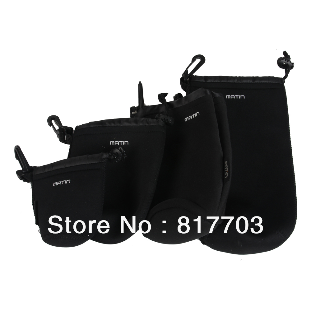 XL Size Universal Matin Neoprene Waterproof Soft Video Camera Lens Pouch Bag Case For Canon Nikon Sony Black Cheap