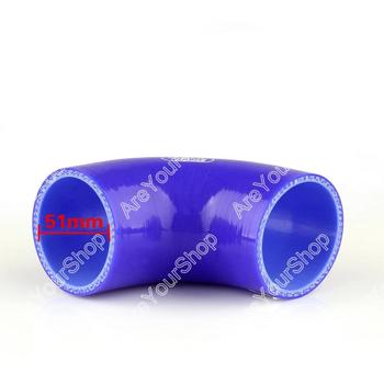 Universal Elbow 90 Degree 90mm 51mm Vacuum Silicone Hose Tube Coupler Intercooler Turbo Intake Water Air Pipe Connection Blue