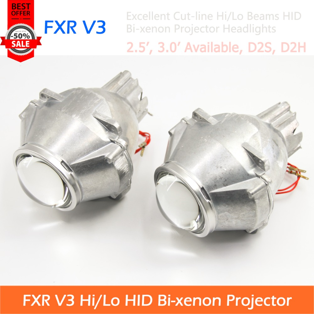2pcs Of FXR V3 Gen3 HID Bi-xenon Projector Lens Headlights With Excellent Cut-line For All Cars Retrofit And Styling(China (Mainland))