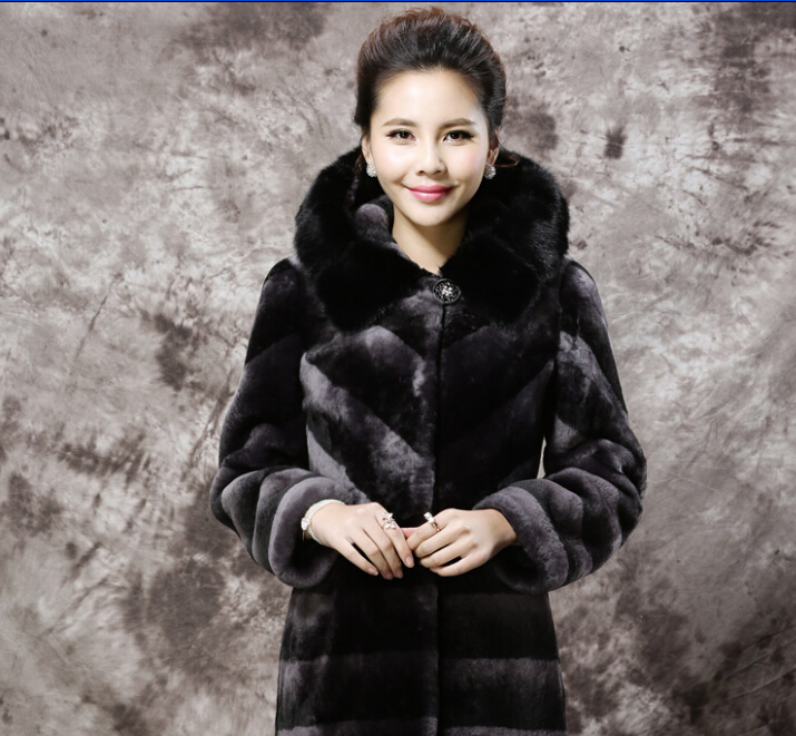 2015 New Genuine Leather Wool Korean style In the long section Fur coat Special offer yd76Одежда и ак�е��уары<br><br><br>Aliexpress