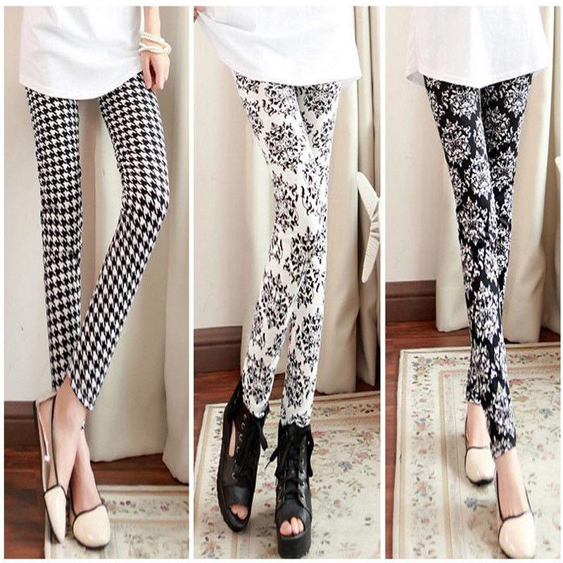 Женские брюки Skinny Pants 2015 Print Leggings женские брюки brand new 3xl 6xl 2015 5colors capris pants