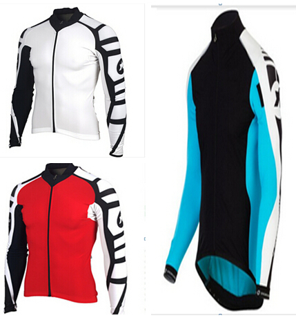 2014 hot sale 215 new coming assos cycling clothes long sleeve cycling jersey with fleece bike bicycles jersey men's cycling(China (Mainland))