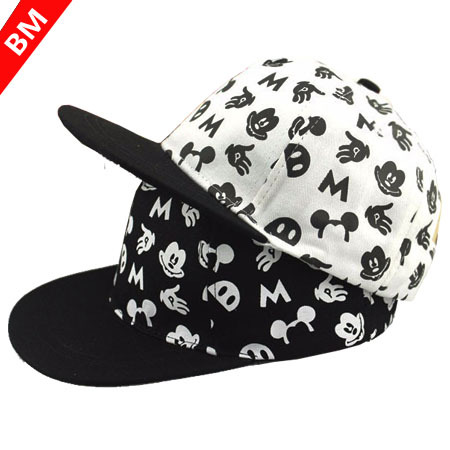 2015 New Baseball Cap Cartoon Mickey Children Acrylic Casquette Flat Along Hip-hop Cap Bone Aba Reta for Boy and Girl(China (Mainland))