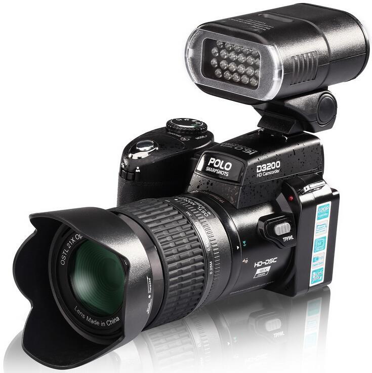 POLO D3200 digital cameras 16MP cameras Professional DSLR cameras Digital zoom Lens Wide Angel Lens Telephotos Len LED(China (Mainland))