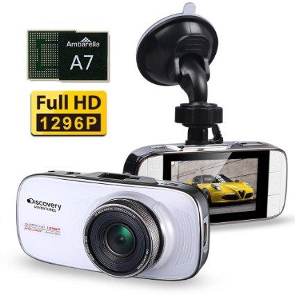 Discovery DC200 Ambarella A7LA70 Car DVR Camera WDR Full HD 1296P 1080P Vehicle Dash Cam Video Recorder Registrator Camcorder(China (Mainland))