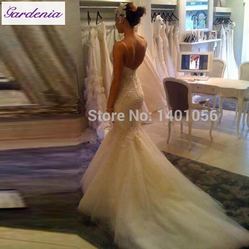 Real photo bling wedding dress fully beaded plus size for Plus size bling wedding dresses