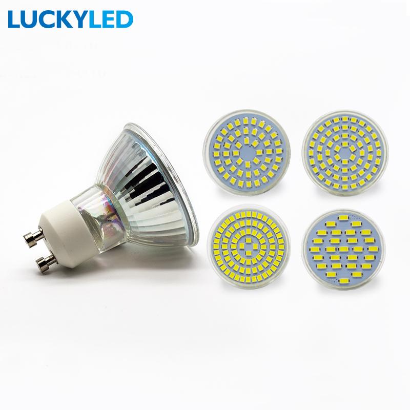 Aliexpress com   Buy LUCKYLED Lampada lamp LED bulb Spot light 3W 4W 5W 6W SMD 2835    5730 GU10     -> Lampada Spot Led