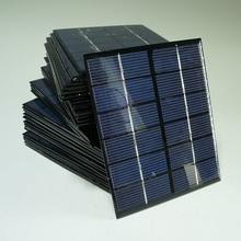 High Efficiency! Mini 2W 6V Solar Cell Polycrystalline Solar Panel Solar Module DIY Solar Charger 330mA 136*110MM Free Shipping