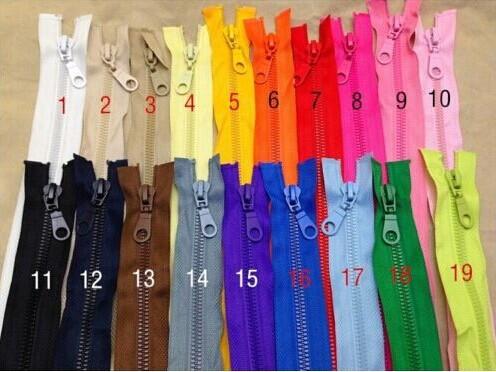 20Pcs 70cm 5# Resin Zipper Down Jacket Zipper Open End Zipper Clothing(China (Mainland))
