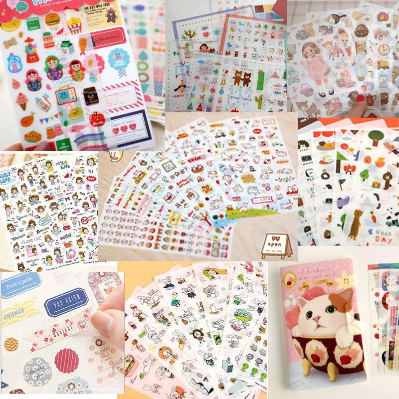 Cute Creative 4Pcs(1Set) Korean Magnetic Metal Bookmark Book Clip School New