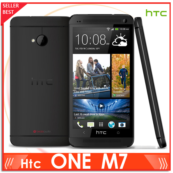 M7 Unlocked Original HTC One M7 801e 32GB Android 4G smartphone Quad core touchscreen silver/black One Yeay Warranty(China (Mainland))