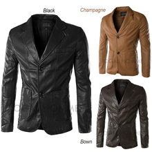 Wholesale Men's Retro Leather Jacket Gentleman Plus Size Casual Leather Coat Brand Autumn Winter Men Motorcycle Jackets (China (Mainland))