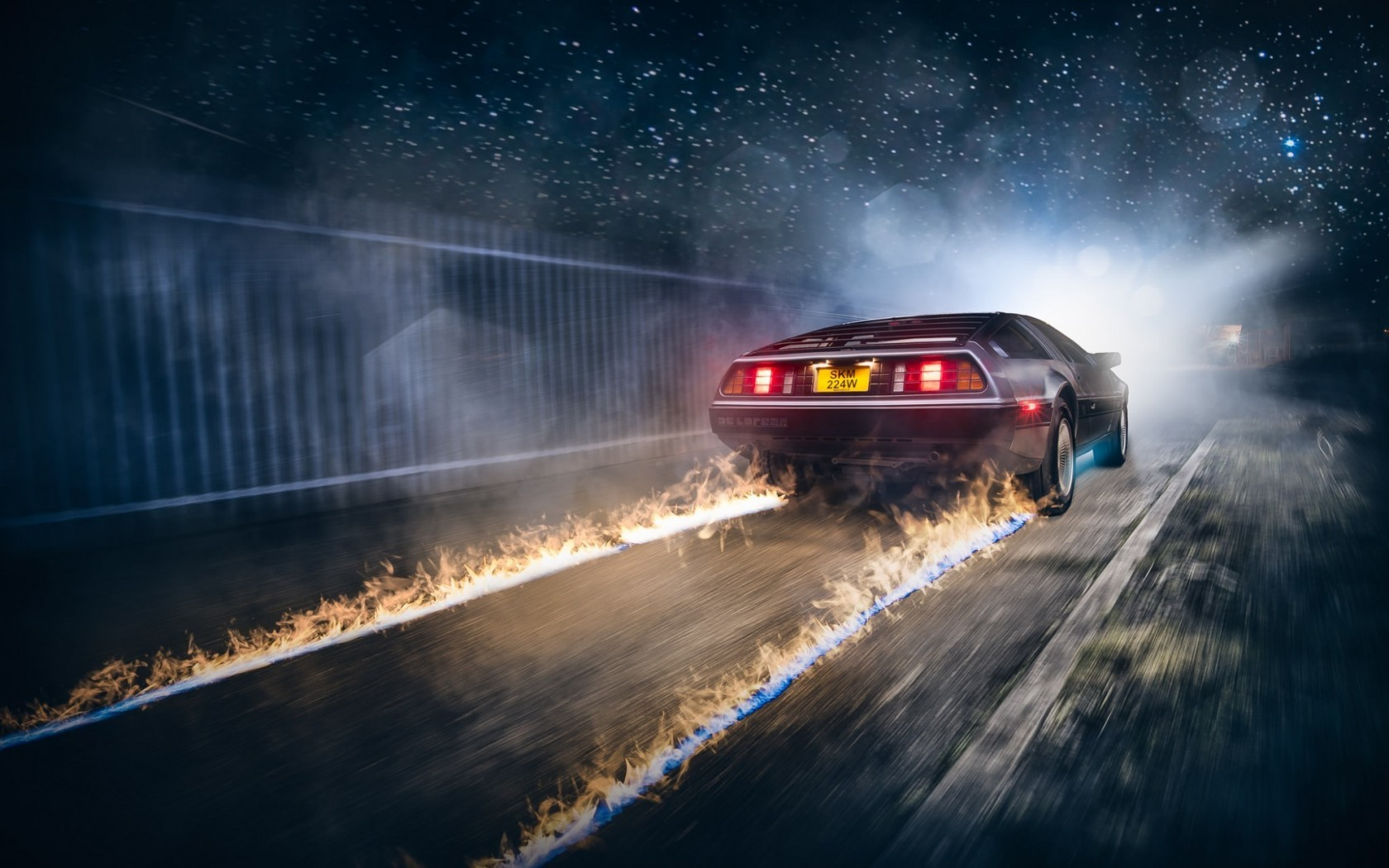 The most popular movies movies artwork DeLorean Back to the Future cars fire 4 Sizes Silk Fabric Canvas Poster Print(China (Mainland))
