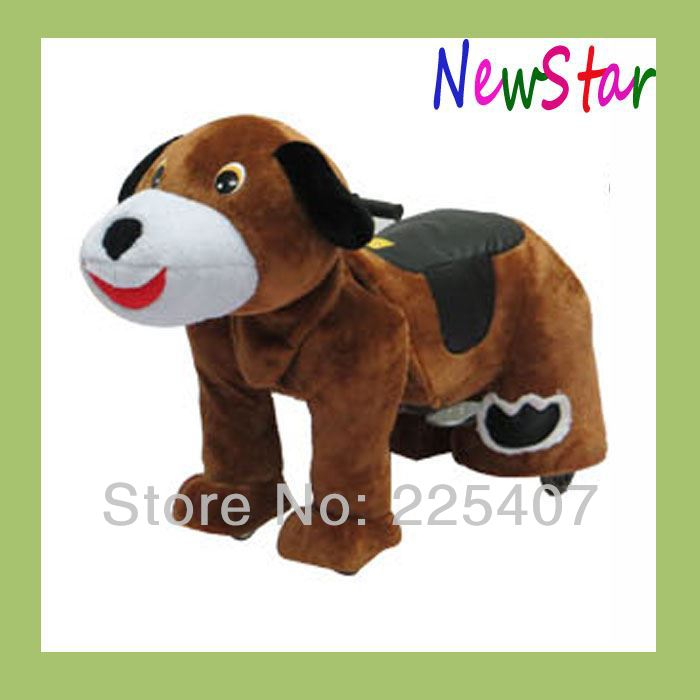 Naughty Dog 12V Large Stuffed Animal Standing Plush Horse Toy Amusement Ride 7 Colors(China (Mainland))