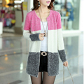Newest Spring Autumn Fashion Long Knitted Sweater Women 2016 O Neck Long Sleeve Loose Solid Oversized Outerwear Cardigan Female