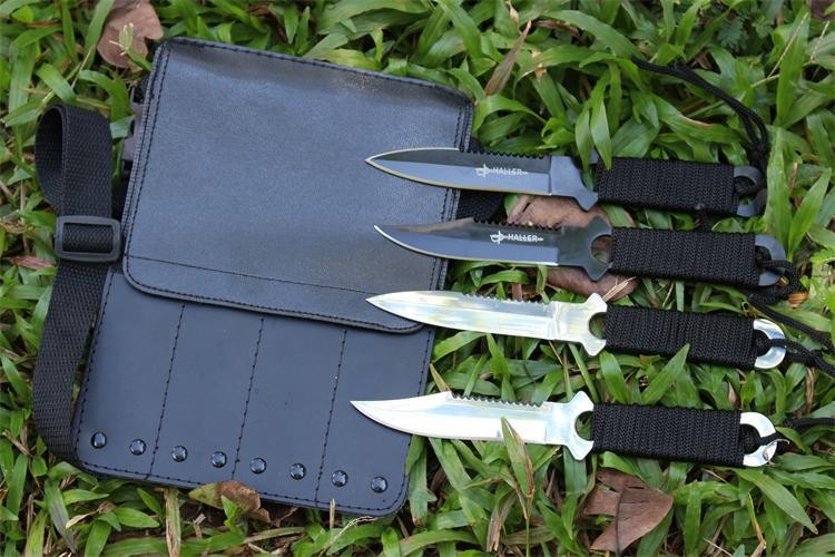 Buy ( 4 in 1), Pocket Knife Tactical Fixed Blade Knife Survival Outdoor Hunting Camping Knives Knife tools + Sheath cheap