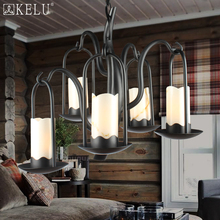 e road simple American village restaurant droplight personality living room bedroom three head iron natural marble lamps(China (Mainland))