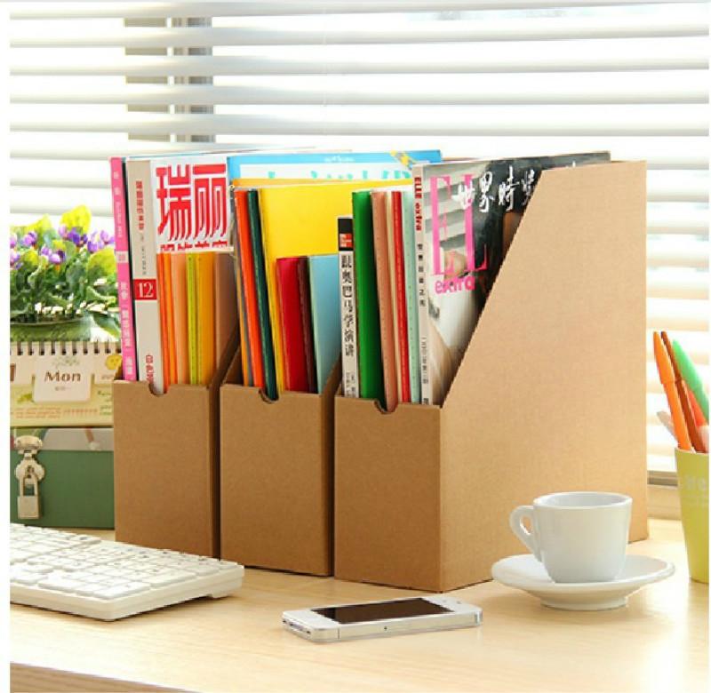 New Creative Minimalist Office Kraft Paper Desktop Finishing Shelves Data File Storage Box Office Oragnizer Drawer 5ZCF015(China (Mainland))