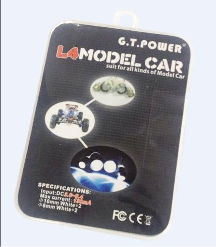 F13043/5 G.T.Power L4 / L8 / L12 Model Car LED Light Suit for All Kinds of RC Model Car + FS(China (Mainland))