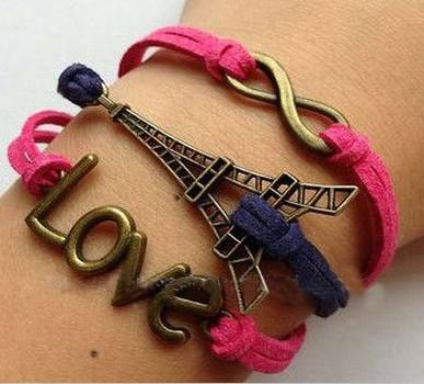 2015 hotting sale eiffel tower bracelet,infinity love bracelet,eiffel bracelet woman - YiWu Bebillion Jewelry store