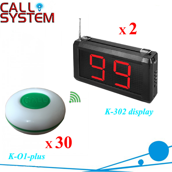 433mhz Table service call button 2 receiver number screen with 30 buzzers for bar, pub, bistro free dhl shipping(China (Mainland))
