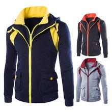 New Men's Casual Jackets Mens Hoody Jacket Coat Sweater Hoodie TOP Coats