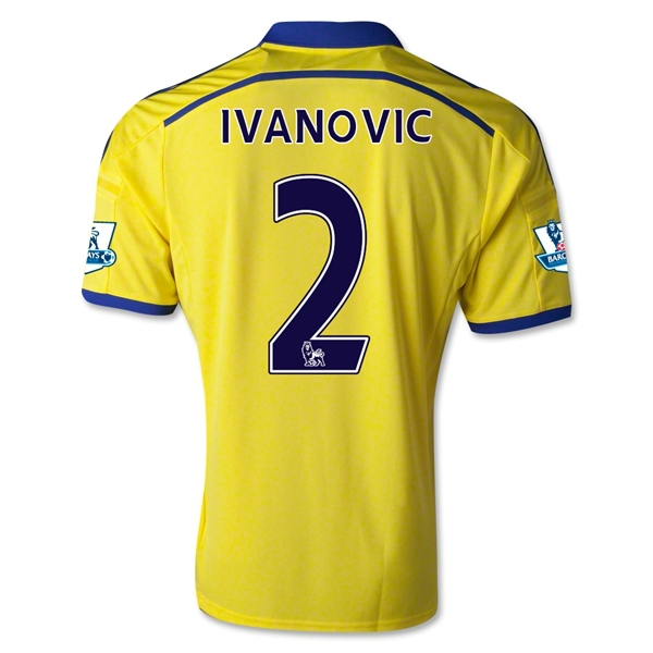 New Chelsea Football Club 14/15 IVANOVIC Away Football Jersey Soccer Jersey the Thaliand Top Quality(China (Mainland))