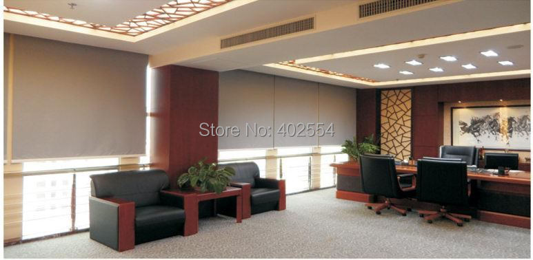 Motorized roller shades wide sunscreen fabric in for Motorized roller shades price