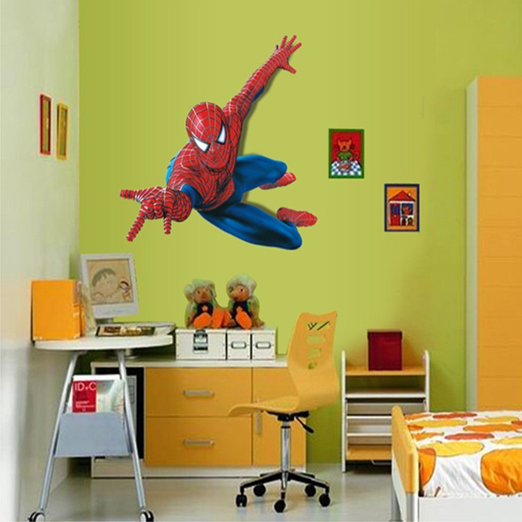 New cartoon stickers room bedroom wallpaper sticker ay1937 for Room decor jeneration