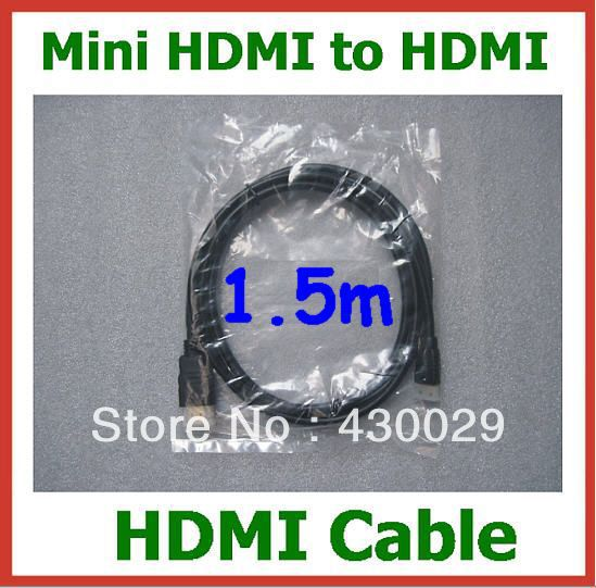 20pcs Mini HDMI Male to HDMI Male Cable 1.5m 1.4 Version 1080P HD for TV LCD Tablet PC Mobile Phone Converter Adapter HDMI Cable<br><br>Aliexpress