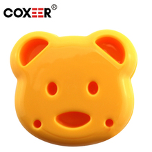 COXEER Cupcake Kitchen Accessories Home Diy Cookie Cutter Sandwich Toast Bread Mold Maker Cartoon Bear Tool Moule Muffa