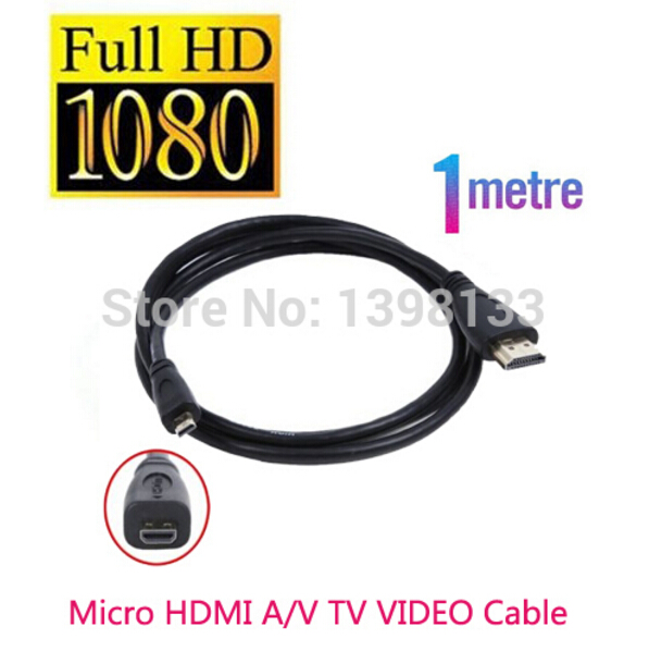 Micro Hdmi 1.0m Cable to TV HDTV For Sony DSC WX220 TX30 WX350 a7RII a7R II RX100 IV RX10 Mark II(China (Mainland))