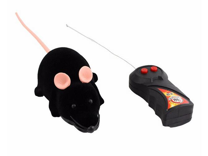 Hot Funny Remote Control RC Wireless Rat Mice Mouse Toy For Novelty Cat Dog Brown Black Grey 3 Colors Option Free to Buy(China (Mainland))