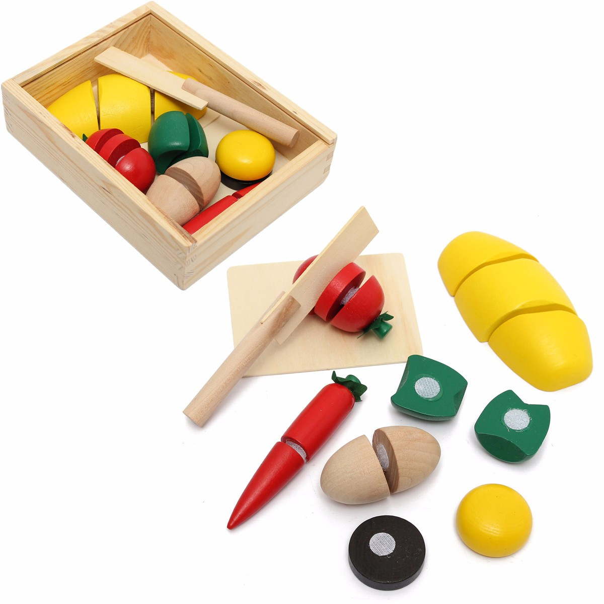 Best Cooking Toys : Wholesale kitchen toy setwooden food fruit vegetable