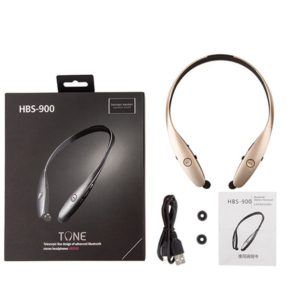 2016 New Universal Bluetooth Headset for iPhone Samsung LG HBS900 HBS 900 Wireless Mobile Earphone Headset