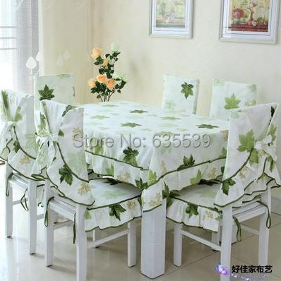 maple leaf printing table cloth simple style dining table cover set rural table cloth chair cushion chairback set room deco(China (Mainland))